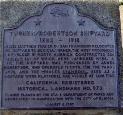 Turner/Robertson Shipyard Marker image. Click for full size.