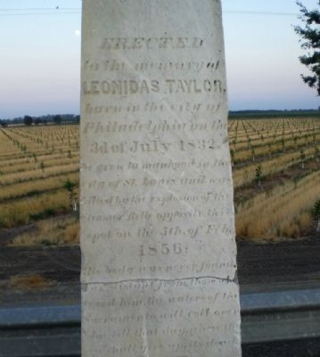 Leonidas Taylor Marker Photo, Click for full size