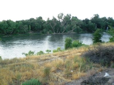 Sacramento River Location Where the Steamer Belle May Have Gone Down Photo, Click for full size