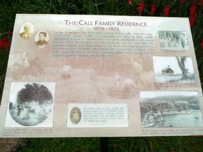 The Call Family Residence Marker image. Click for full size.