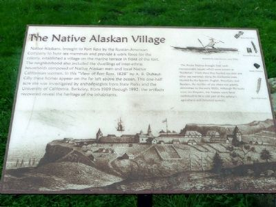 The Native Alaskan Village Marker image. Click for full size.