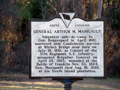 General Arthur M. Manigault Marker Photo, Click for full size