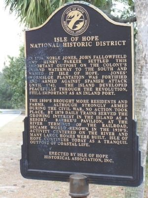 Isle of Hope Marker image. Click for full size.