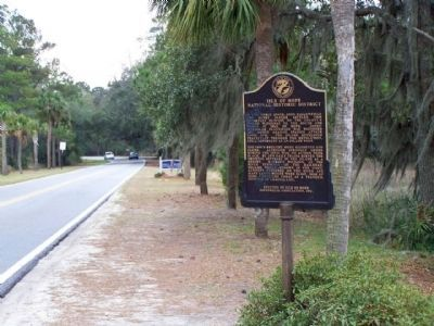 Isle of Hope Marker seen along Skidaway Road southbound image. Click for full size.