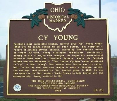 Cy Young Marker Photo, Click for full size