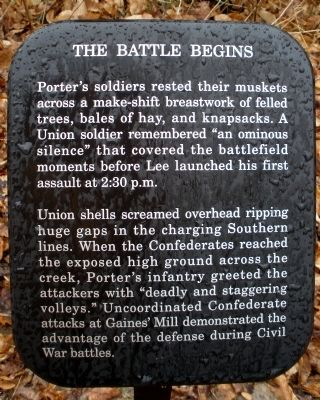 The Battle Begins Marker image. Click for full size.