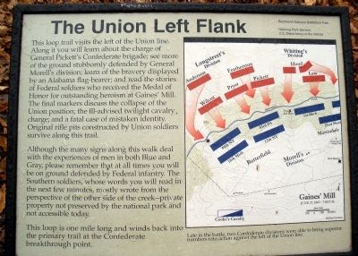 The Union Left Flank Marker image. Click for full size.