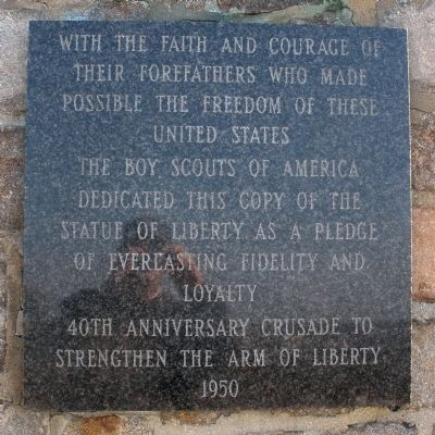 Strengthen the Arm of Liberty Marker Photo, Click for full size