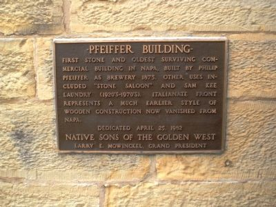 Pfeiffer Building Marker Photo, Click for full size