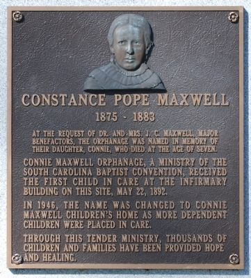 Constance Pope Maxwell Marker -<br>South Side image. Click for full size.