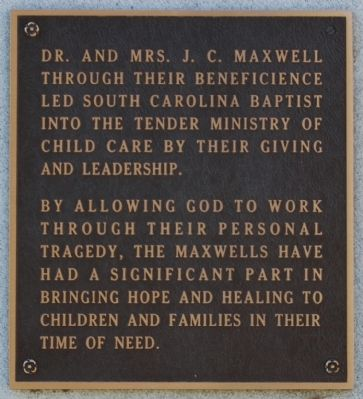 Constance Pope Maxwell Marker -<br>East Side image. Click for full size.