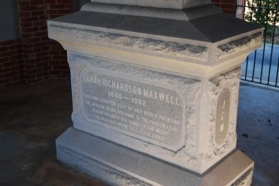Sarah Richardson Maxwell Tombstone image. Click for full size.