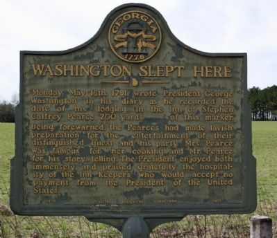 Washington Slept Here Marker Photo, Click for full size