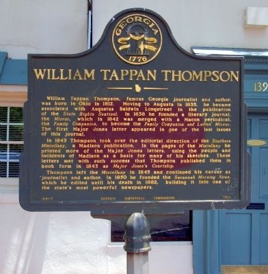 William Tappan Thompson Marker image. Click for full size.
