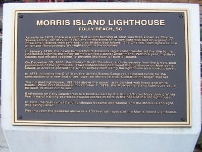 Morris Island Lighthouse Marker image. Click for full size.