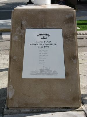 The AMMV Plaza Memorial Committee Plaque at the Monument Photo, Click for full size