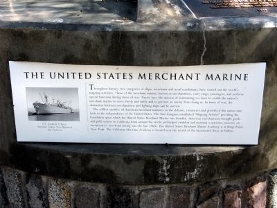 The United States Merchant Marine Marker Photo, Click for full size