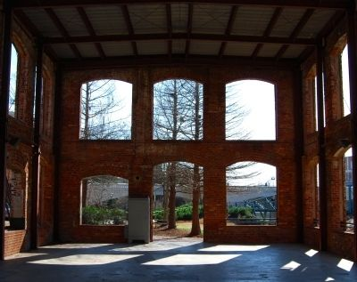 Wyche Pavilion -<br>Interior South Wall Photo, Click for full size