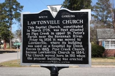 Lawtonville Church Marker image. Click for full size.
