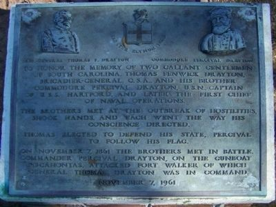 Two Gallent Gentlemen from South Carolina Marker image. Click for full size.