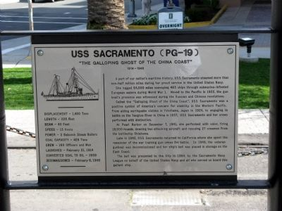 USS Sacramento (PG-19) Marker Photo, Click for full size