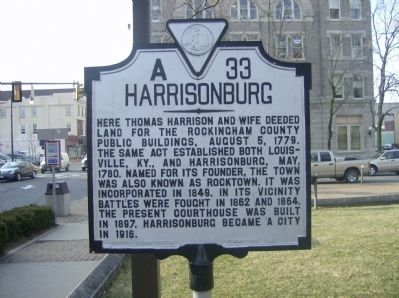 Harrisonburg Marker image. Click for full size.
