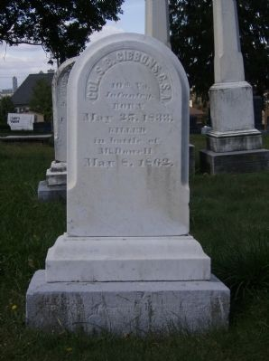 Headstone of Col. S.B. Gibbons Photo, Click for full size