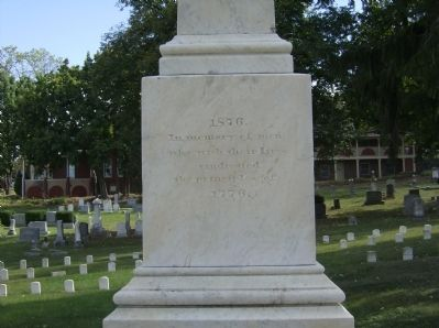 West face of the Confederate Monument Photo, Click for full size