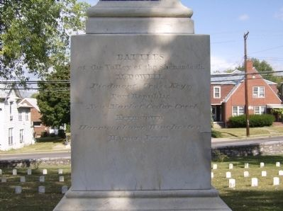 South face of the Confederate Monument Photo, Click for full size