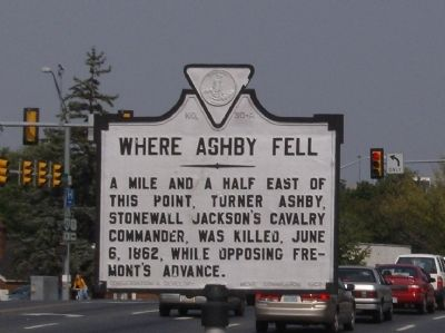 Where Ashby Fell Marker Photo, Click for full size