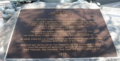 Merchant Marine Monument Marker image. Click for full size.