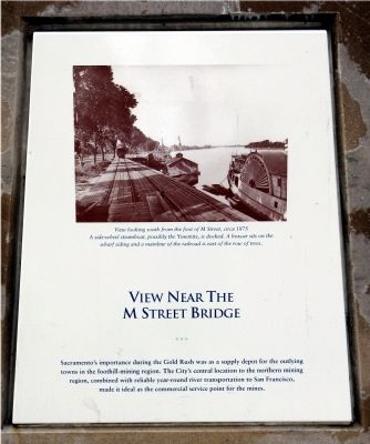 View Near the M Street Bridge Marker image. Click for full size.