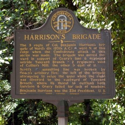 Harrison's Brigade Marker image. Click for full size.