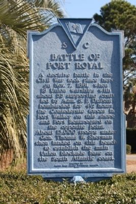 Battle of Port Royal Marker Photo, Click for full size