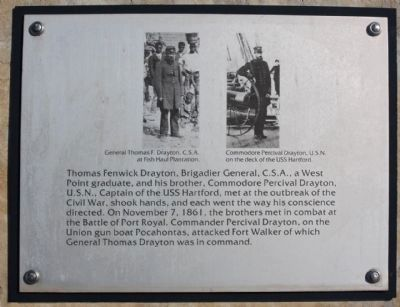 Interpretive marker at Ft.Walker Dr. Photo, Click for full size
