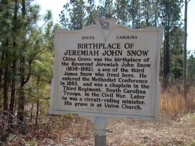 Birthplace of Jeremiah John Snow Face of Marker Photo, Click for full size