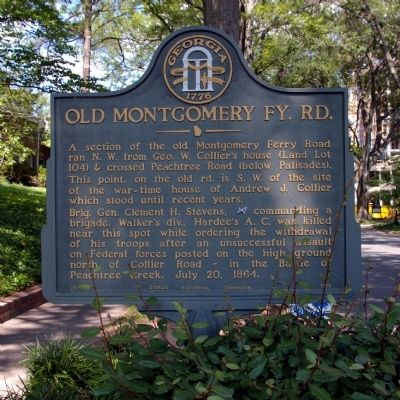 Old Montgomery Fy. Rd. Marker image. Click for full size.