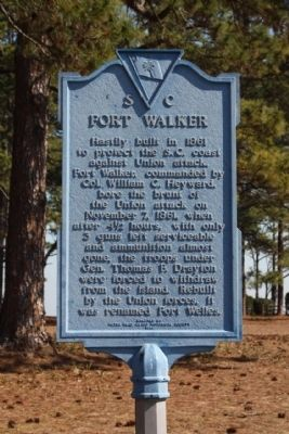 Fort Walker Marker Photo, Click for full size