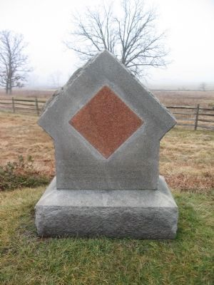 17th Maine Infantry Position Marker Photo, Click for full size