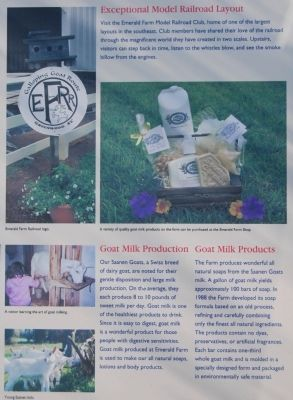 Emerald Farm Marker -<br>Goats Milk Products and Production image. Click for full size.