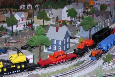 Emerald Farm -<br>Model Railroad Train and Neighborhood Detail image. Click for full size.