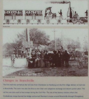 Branchville Depot Marker center pictures- Changes in Branchville image. Click for full size.