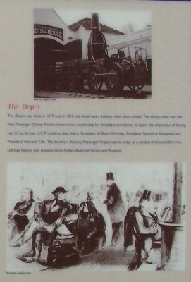 Branchville Depot Marker, Right side Pictures- The Depot image. Click for full size.