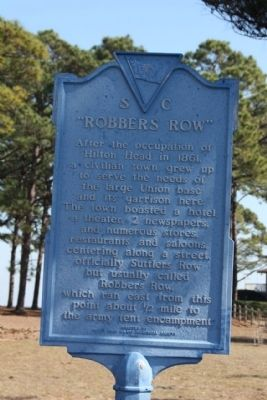 """Robbers Row"" Marker image. Click for full size."