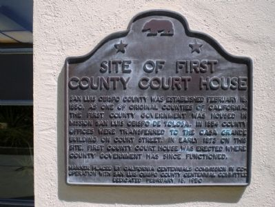 Site of First County Court House Marker image. Click for full size.