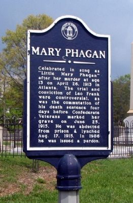 Mary Phagan Marker image. Click for full size.