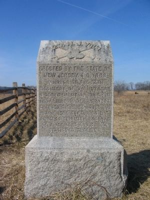12th New Jersey Volunteers Marker Photo, Click for full size