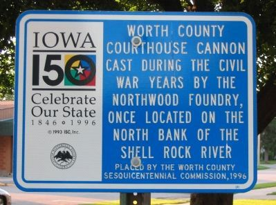 Worth County Courthouse Cannon Marker image. Click for full size.