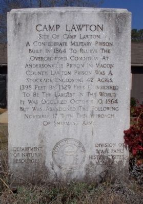 Camp Lawton Marker Photo, Click for full size