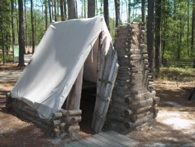 Tent in Confederate Winter Camp Photo, Click for full size